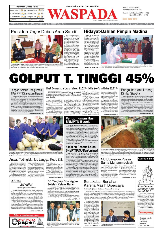 Waspada, Rabu 29 Juni 2011 by Harian Waspada - issuu