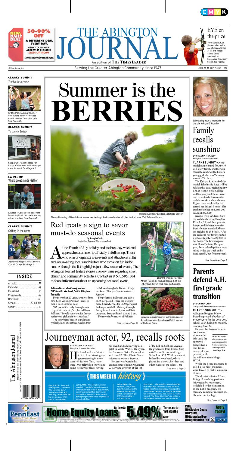 The Abington Journal 06 29 2011 By The Wilkes Barre Publishing