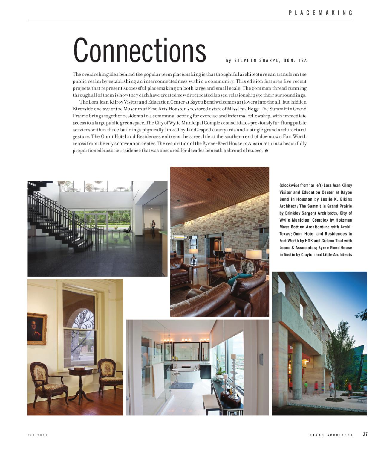 Texas Architect July Aug 2011 Placemaking By Texas Society Of Architects Issuu