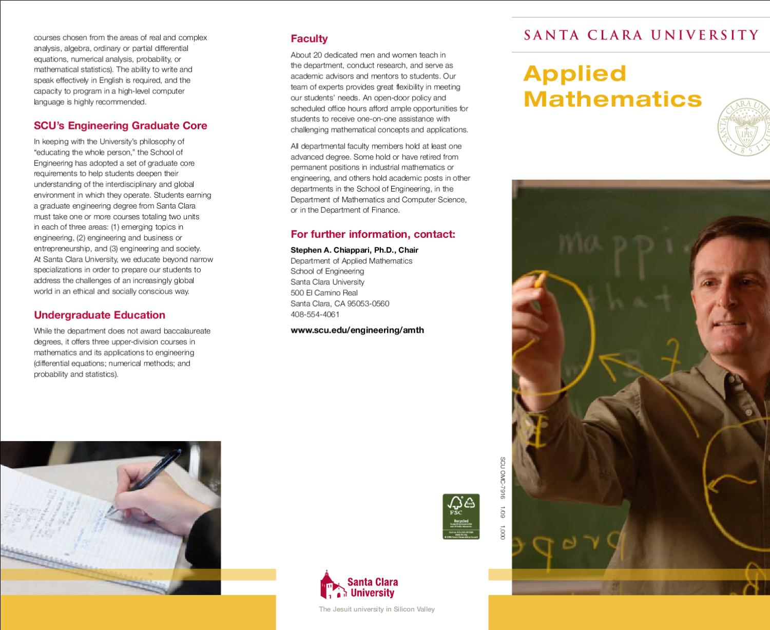 Applied Mathematics By Santa Clara University Issuu