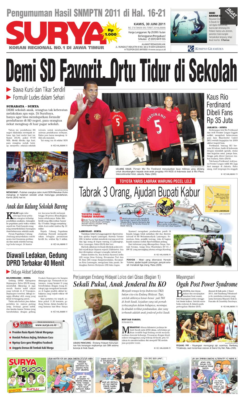 Surya Edisi 30 Juni 2011 By Harian Issuu Kalung Iks Tingkat 1