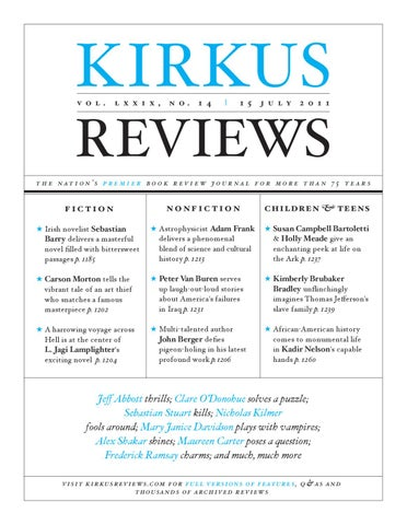 July 15 2011 volume lxxix no 14 by kirkus reviews issuu page 1 fandeluxe Image collections