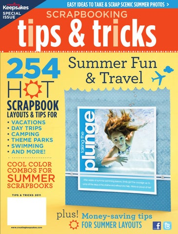 Scrapbooking Tips Tricks Summer Fun Travel By Creating