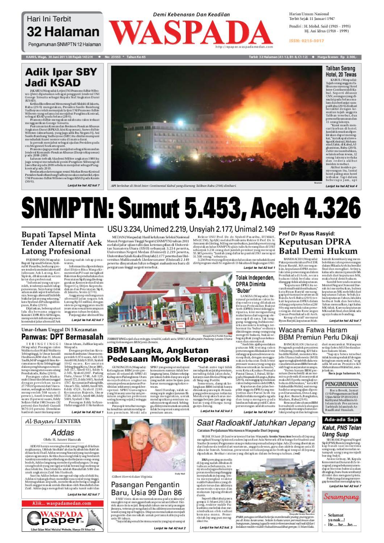 Waspada, Kamis 30 Juni 2011 by Harian Waspada - issuu