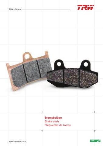 Lucas Bremsbel/äge TRW MCB704/F/ür HONDA GL 1800/Gold Wing SC47/01- vorne