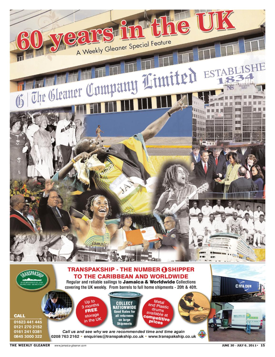 Weekly Gleaner UK 60th Anniversary by The Voice newspaper
