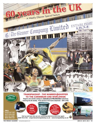 Weekly Gleaner UK 60th Anniversary by The Voice newspaper - issuu