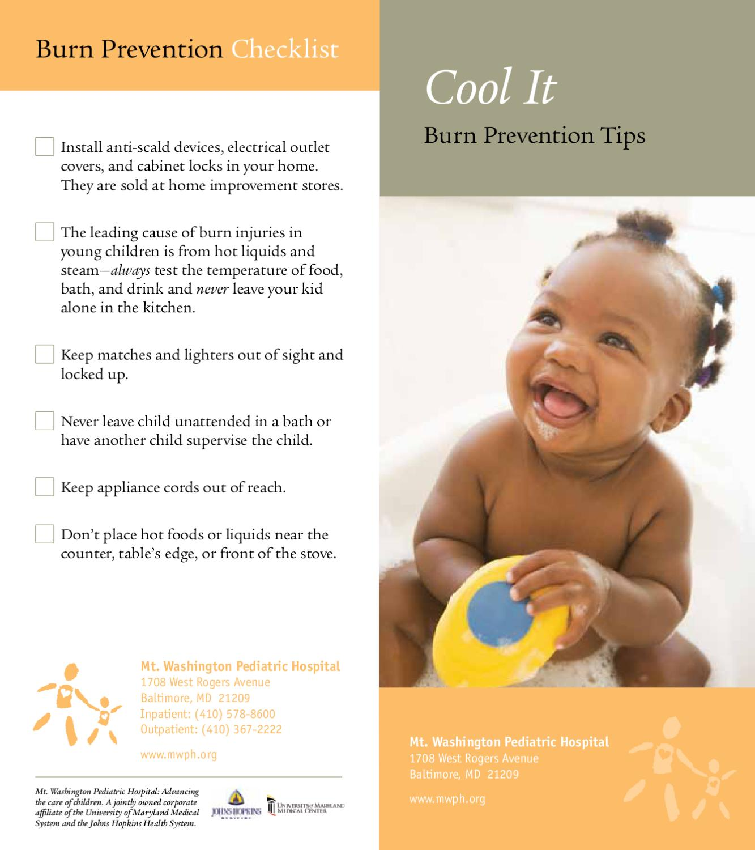 Cool It Burn Prevention Tips By Mt Washington Pediatric
