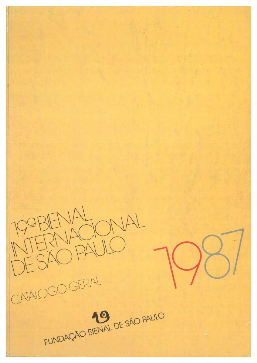 19 bienal de so paulo 1987 catlogo by bienal so paulo issuu stopboris Choice Image