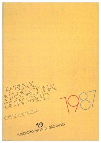 Catálogo 19ª Bienal de São Paulo - Bienal de São Paulo 5dd9497223b