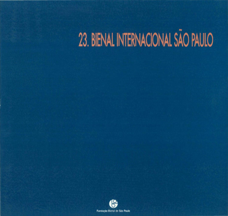 23ª Bienal De São Paulo 1996 Catálogo Catalogue By