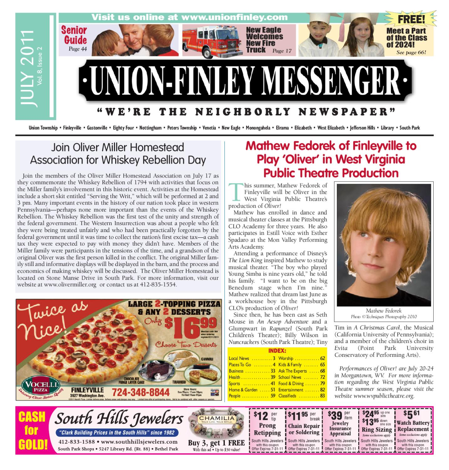 Union finley messenger july 2011 by south hills mon valley messenger issuu