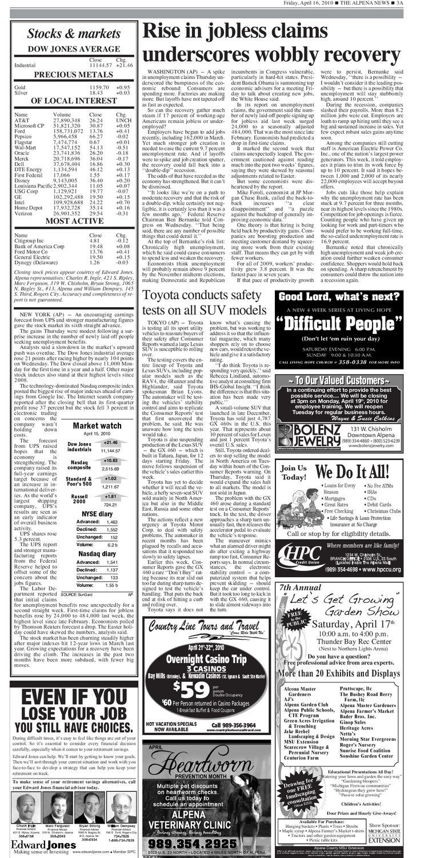 alp04162010A03 by The Alpena News - issuu