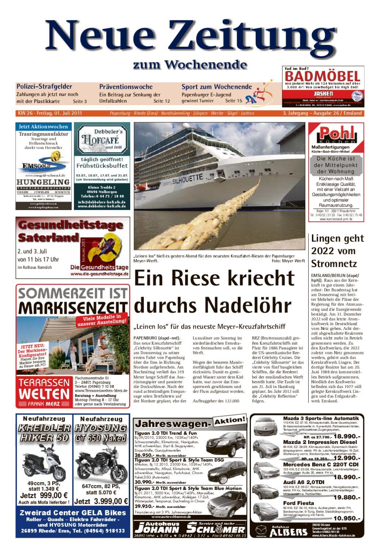 Neue Zeitung - Ausgabe Emsland KW 26 by Gerhard Verlag GmbH