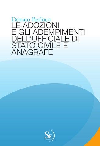 D Berloco Le Adozioni E Gli Adempimenti Dell Ufficiale Di Stato Civile E Di Anagrafe By Sepel Editrice Issuu