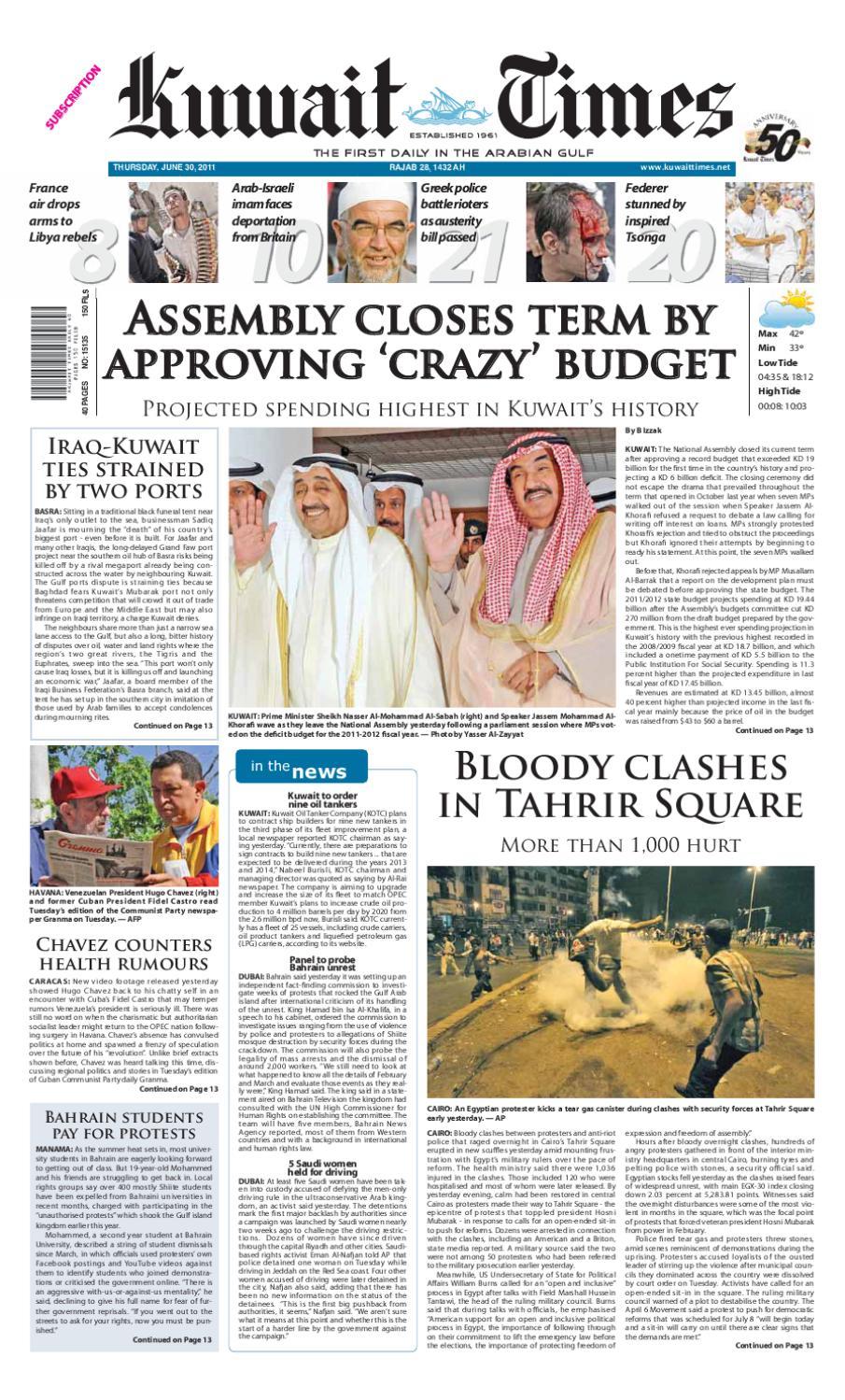 86abf5eacc09 30 Jun by Kuwait Times - issuu