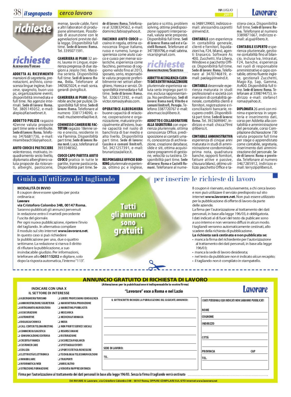 Lavorare 654 10 Luglio 2011 By Media Futuro Societa