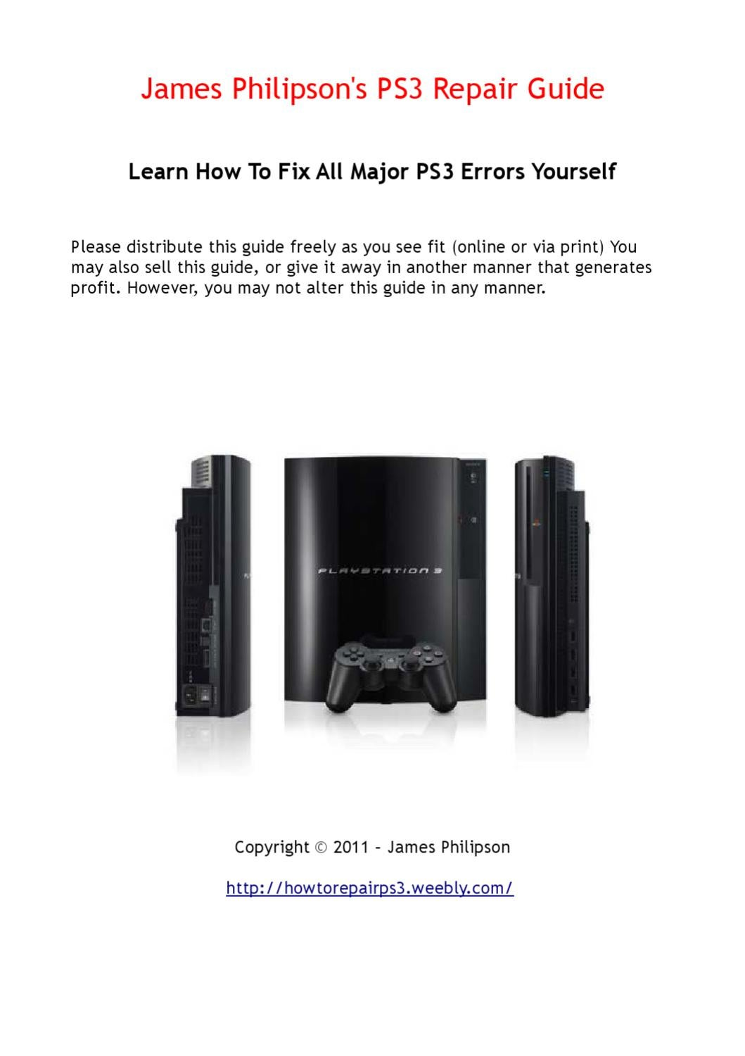 PS3 Repair Guide, Do It Yourself! by Rick Jones - issuu