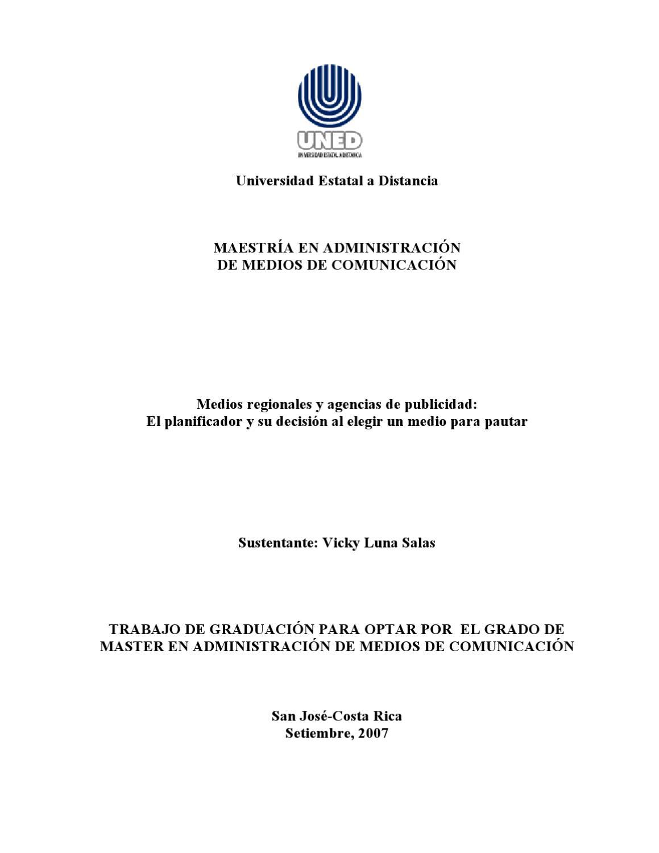 Medios regionales y la publicidad en Costa Rica by Vicky Luna Salas ...