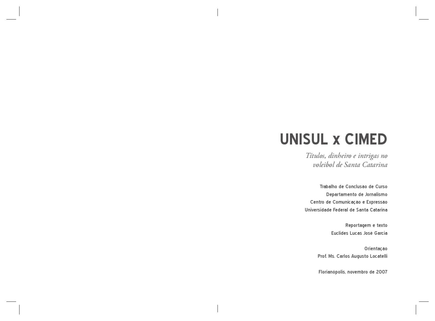 TCC Unisul x Cimed by Dirceu Neto - issuu dc8929dea7149