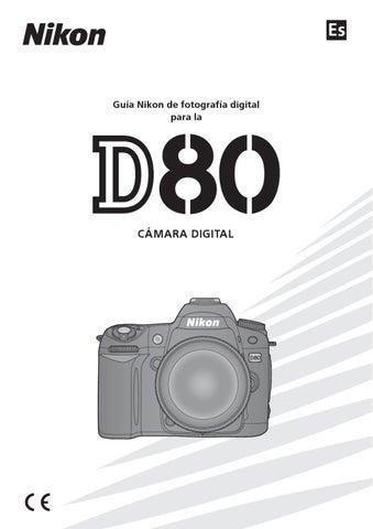 Nikon d80 exposición manual
