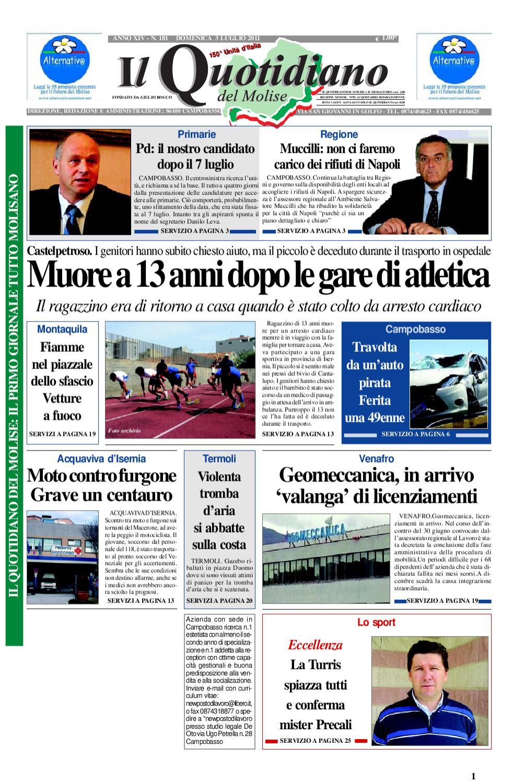 Il Quotidiano del Molise del 3 luglio 2011 by Bruno Marrone - issuu f135f8c1d913
