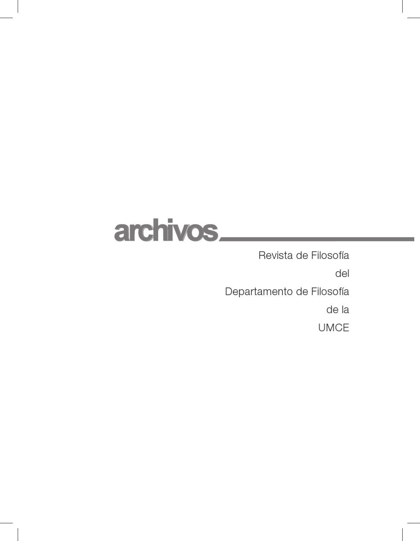 Revista de Filosofía by UMCE - issuu