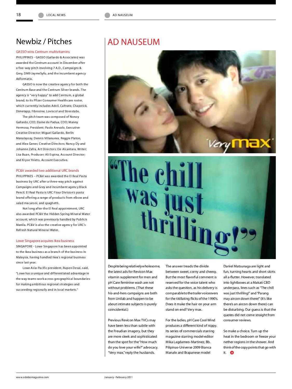 adobo magazine | January - February 2011 by Sanserif, Inc