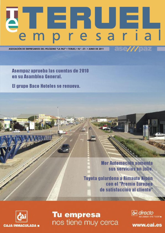 Teruel Empresarial N 37 Junio 2011 By Asempaz Asoc De  # Muebles Jover Teruel