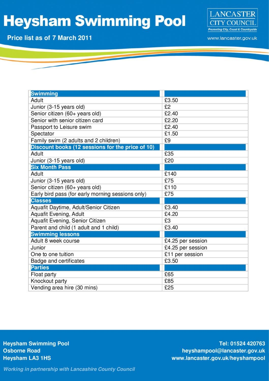 heysham-prices by Lancaster City Council - issuu