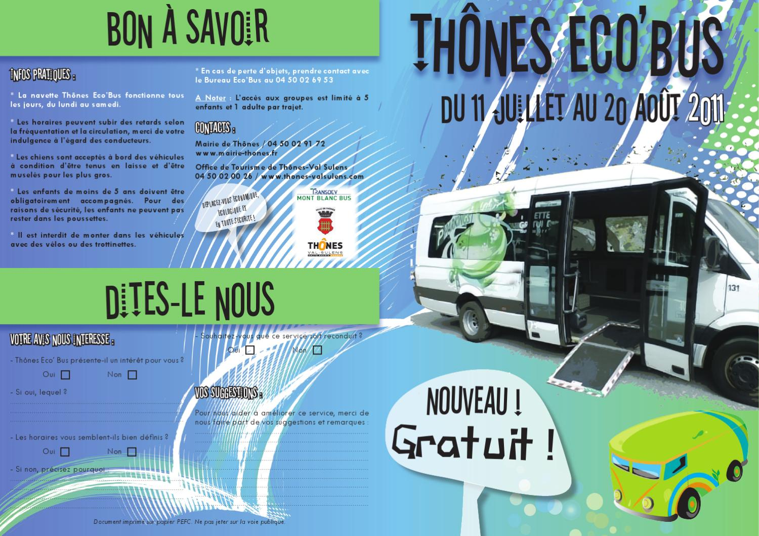 Th nes eco 39 bus by office de tourisme de th nes val sulens emilie issuu - Office de tourisme de thones ...