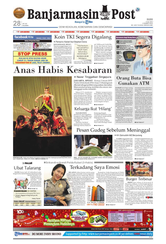 Banjarmasin Post Edisi Cetak Rabu 6 Juli 2011 By Produk Ukm Bumn Batik Lengan Panjang Parang Toko Ngremboko Issuu