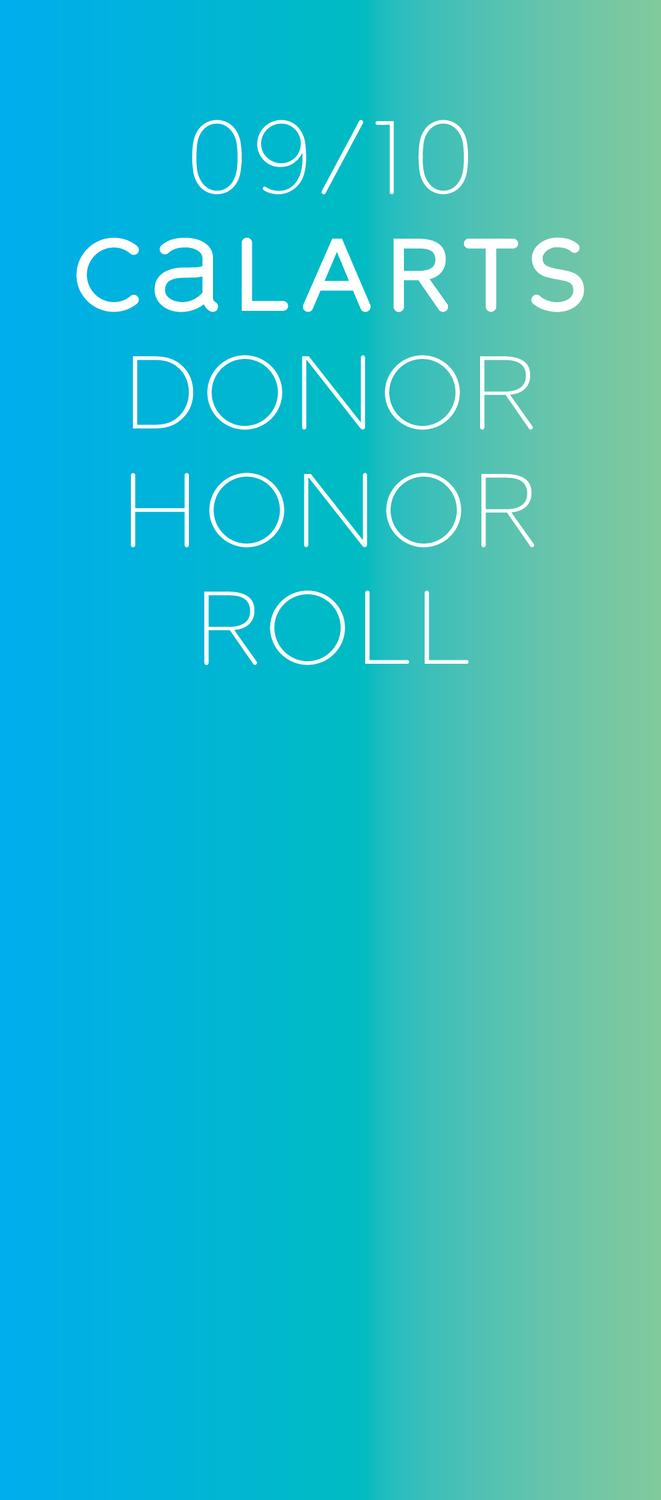 CalArts 2009-10 Donor Honor Roll by California Institute of the Arts