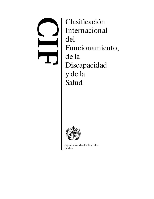CIF - Clasificación Internacional del Funcionamiento de la ...