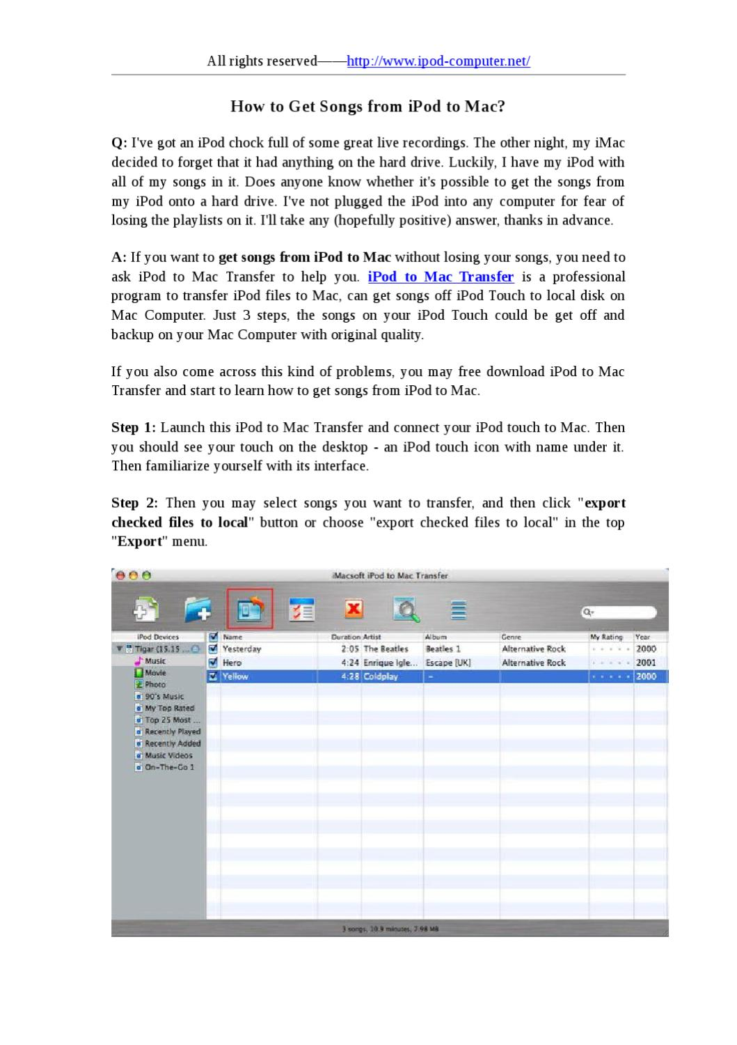 How to Get Songs from iPod to Mac by ji mi - issuu