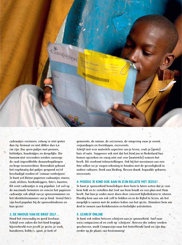 compassion brief schrijven Sponsorbrochure Kindsponsoring by Compassion Nederland   issuu