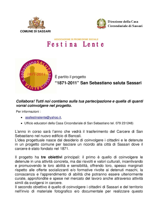 Progetto san sebastiano saluta sassari by festinalente for Idea casa immobiliare sassari