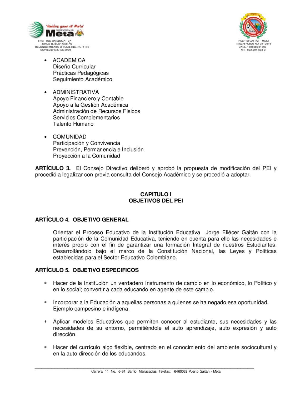 PROYECTO EDUCATIVO INSTITUCIONAL PEI by Jaime Alberto Diaz Arce - issuu