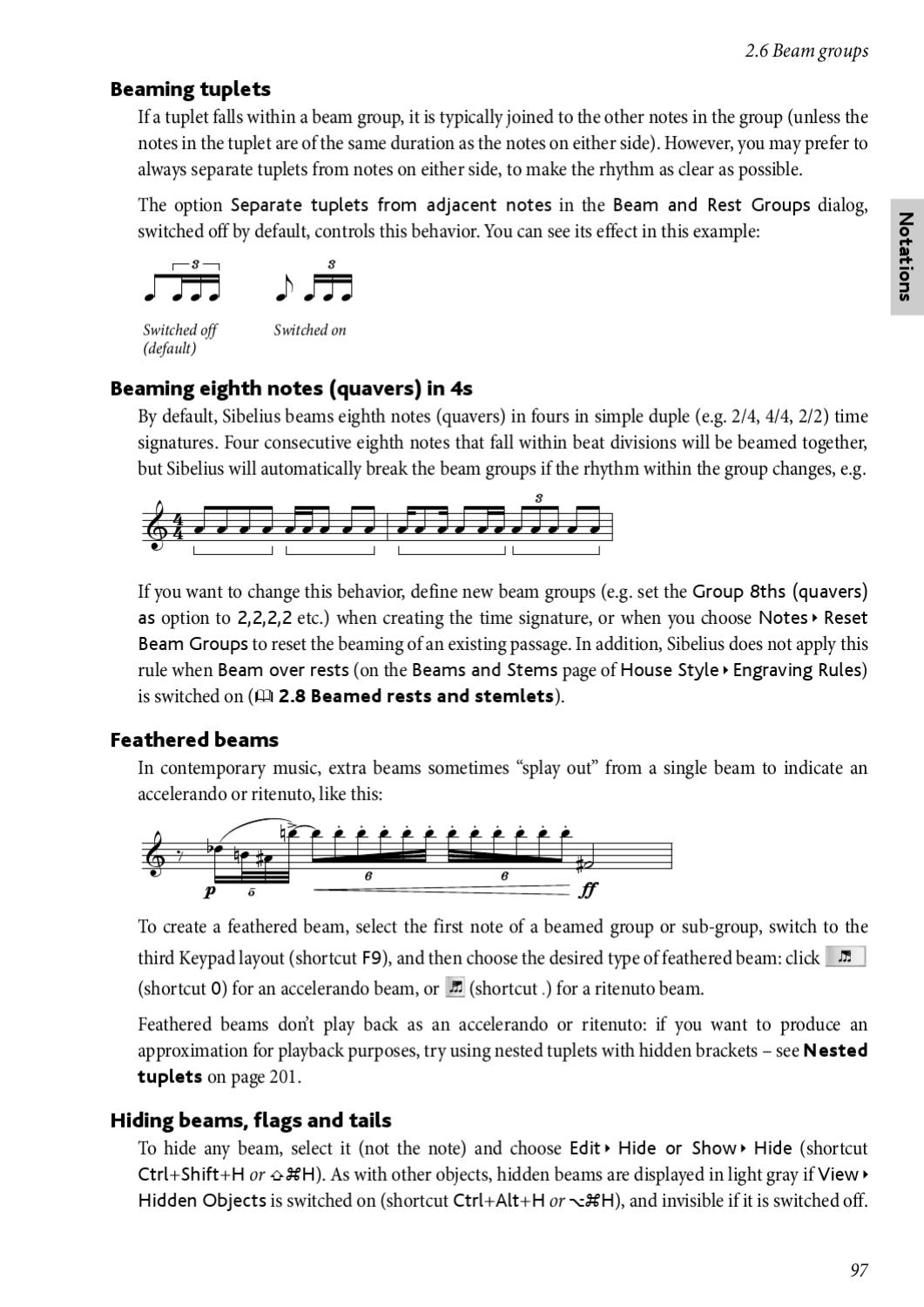 Part 1 Sibelius 6 Reference Manual By Charles Griffin