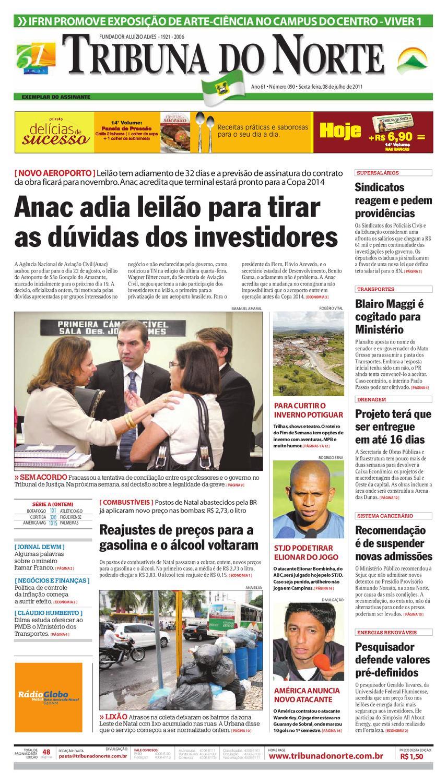 Tribuna do Norte - 08 07 2011 by Empresa Jornalística Tribuna do Norte Ltda  - issuu de7083d0da