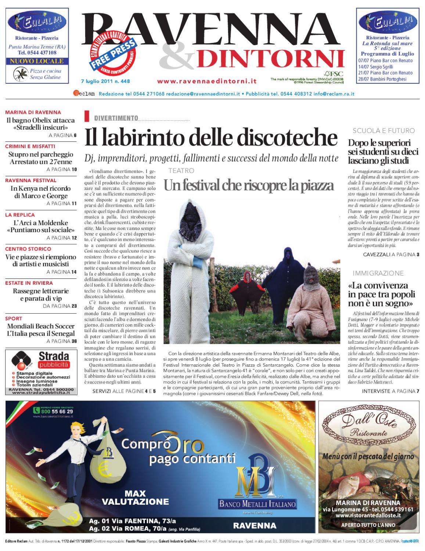 Ravenna & Dintorni 448 - 07 07 2011 by Reclam Edizioni e Comunicazione -  issuu