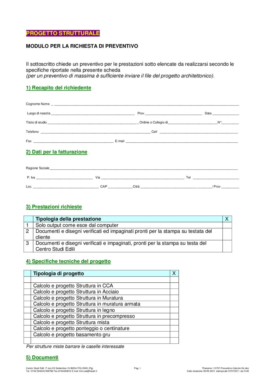 Preventivo progetto strutturale by giampaolo ceci issuu for Fac simile preventivo rifacimento bagno