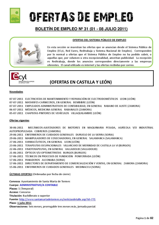 BOLETIN DE EMPLEO Nº 31 by AEDL MIC - issuu