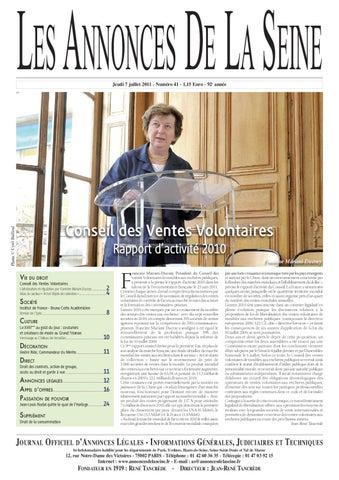 Edition du jeudi 7 juillet 2011 by Annonces de la Seine - issuu ce807a930bb2