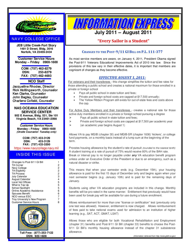 Navy College Newsletter By Lianet Lujan Issuu