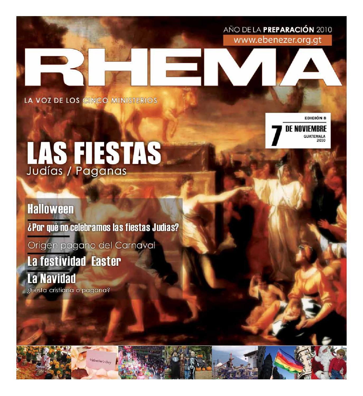 Revista Rhema Noviembre 2010 by Ministerios Ebenezer Revista