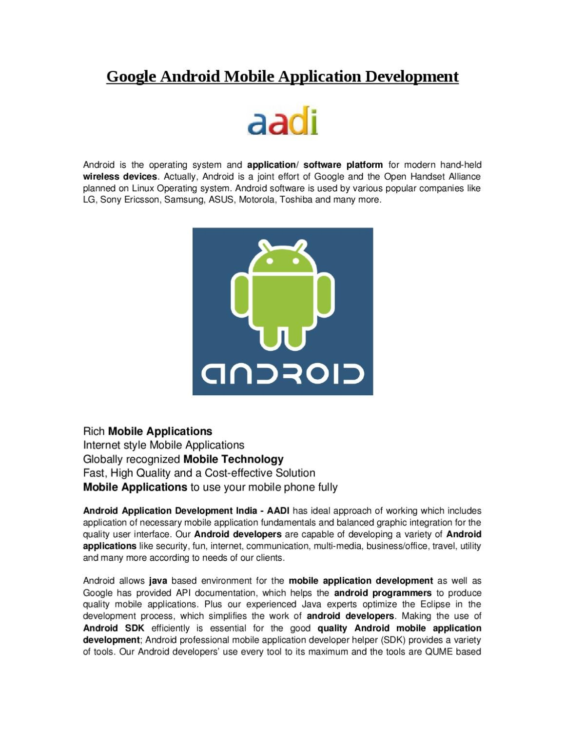 Google Android Mobile Application Development by Steve Smith - issuu