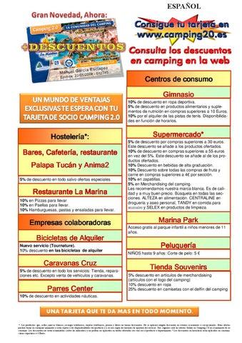 Descuentos Tarjeta Camping2 0 By La Marina Resorts Issuu