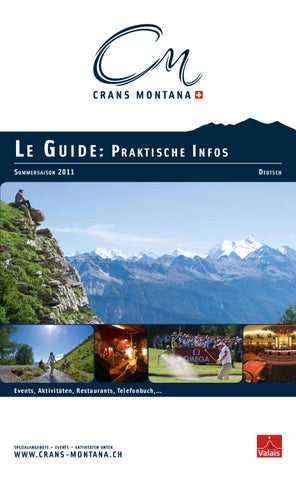 Le Guide Sommer 2011 By Crans Montana Tourisme   Issuu