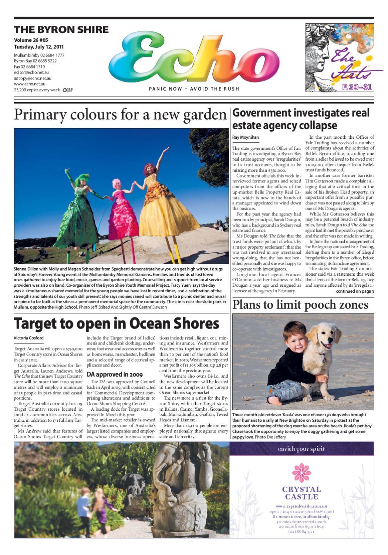 Byron Shire Echo Issue 26 05 12 07 11 By Echo Publications Issuu